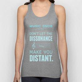 The Dissonance — Music Snob Tip #439 Unisex Tank Top