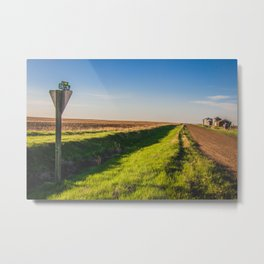 Walkin' on a Country Road 2 Metal Print