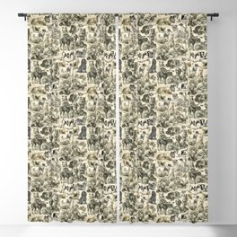 KENNEL - OVER 20 DOG BREEDS COLLAGE Blackout Curtain