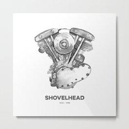 Vintage Harley Shovelhead Motorcycle Engine Metal Print