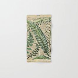 Book Art Page Botanical Leaves Hand & Bath Towel