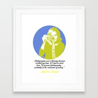 jessica lange Framed Art Prints featuring Jessica Lange by BeeJL