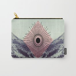 Mountains With Pink Carry-All Pouch