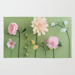 Crepe paper flowers Rug