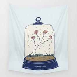 Bloom & Grow - Inspirational Terrarium Wall Tapestry