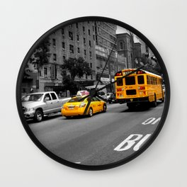 Yellow things in New York Wall Clock
