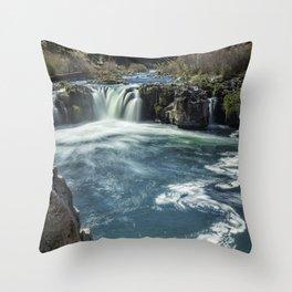 Steelhead Falls Throw Pillow