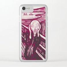 The Scream's Haze (pink) Clear iPhone Case