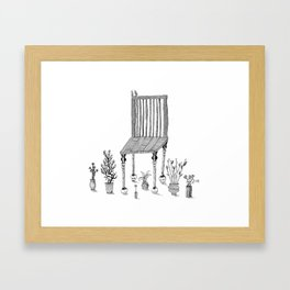The Chair and the Plants Framed Art Print