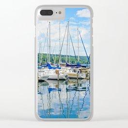 Glen Harbour Marina Clear iPhone Case
