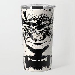 White Tiger Vector Travel Mug