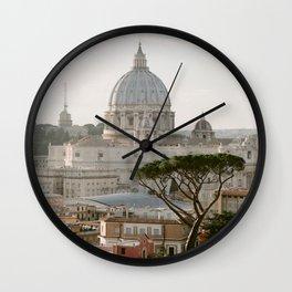 St. Peter's Basilica at Sunset Wall Clock