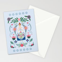 Fairy Tale Folk Art Garden Stationery Cards