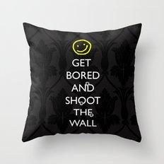 Smiley target Throw Pillow