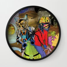 Living In a World of Monsters Wall Clock