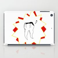 tooth iPad Cases featuring Chipped Tooth by oozingsalt