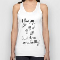 health Tank Tops featuring Health Problems by Handwritten