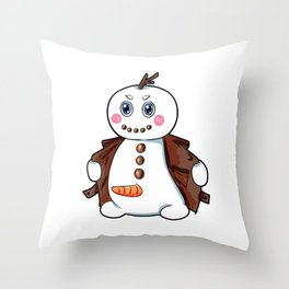 flashing snowman Flasher Present Winter Christmas Throw Pillow