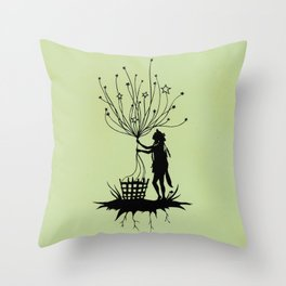 She Spins The Stars Throw Pillow