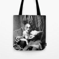 nurse Tote Bags featuring Nurse & Clowns by Flashbax Twenty Three