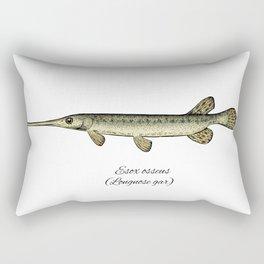 Longnose gar Rectangular Pillow