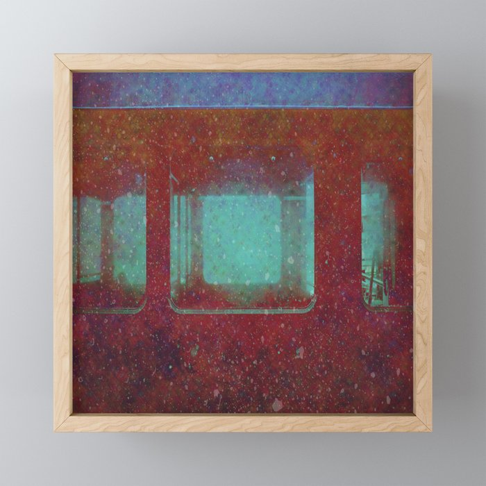 Into the City, Structure Windows Grunge Framed Mini Art Print