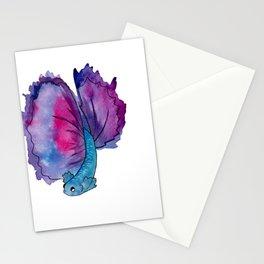 purple fish Stationery Cards