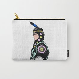 Indian woman with flowers Carry-All Pouch