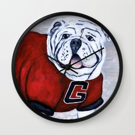 Georgia Bulldog Uga X College Mascot Wall Clock