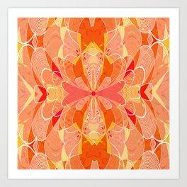 Sunburst Floral Boho Cross Tapestry Print Art Print