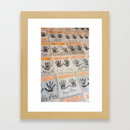 Hollywood hands Framed Art Print