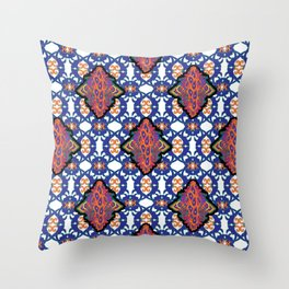 Indian Embroidery Throw Pillow