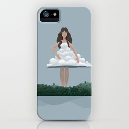 Cloud and woman iPhone Case