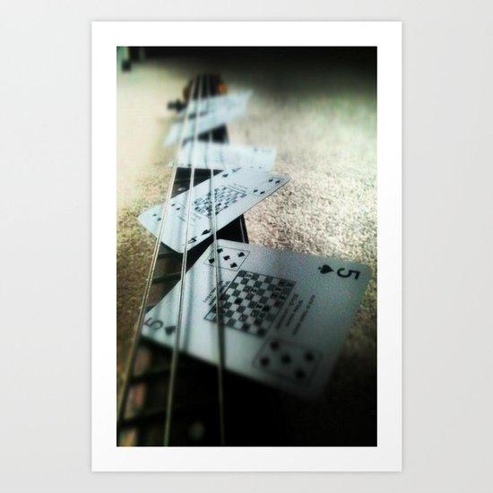 Bass Cards  Art Print