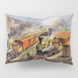American Railroad Scene (Currier & Ives) Pillow Sham