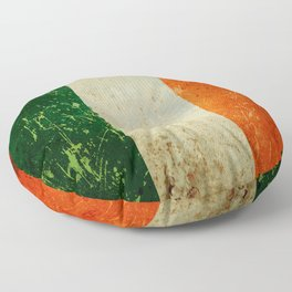 Grunge Irish Flag / Irish Tricolour Floor Pillow