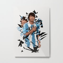 Football Legends: Lionel Messi Argentina Metal Print