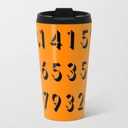 Pi - 3,14 -Orange Travel Mug