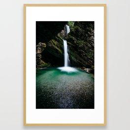 Thur waterfalls, St. Johan, Wildhaus, Switzerland Framed Art Print