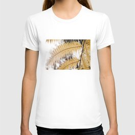 Fern Leaves Photo   Plantlife Photography   Yellow Fern Leaves Close-up T-shirt