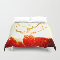 stag Duvet Covers featuring STAG by Chrisb Marquez