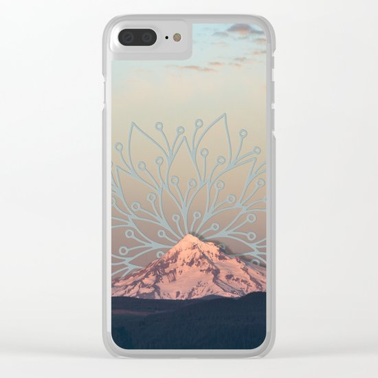 Mountain Mandala Clear iPhone Case