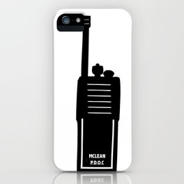 P.D.O.C. Walkie Talkie 3D comic version iPhone Case
