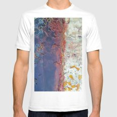 entropic floral dreams MEDIUM Mens Fitted Tee White