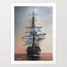 Sunset Arrival Art Print