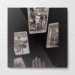 Death Card Metal Print