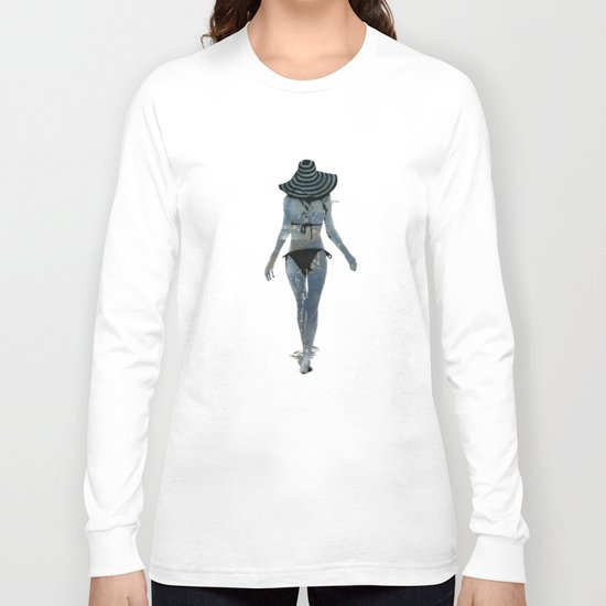 Summer Stencil Long Sleeve T-shirt