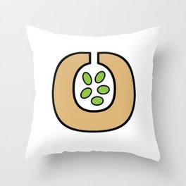 Ceramic Vessel with Beans Throw Pillow