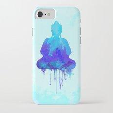 Watercolor zen Buddha blue Slim Case iPhone 7