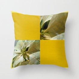 Pale Yellow Poinsettia 1 Blank Q7F0 Throw Pillow